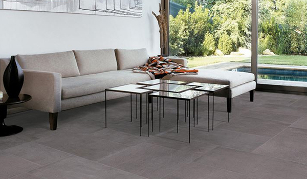 """<span style=""""font-size:12px""""><i><right>Material shown: Gray - 12""""x24"""" Tile</right></i></span>"""