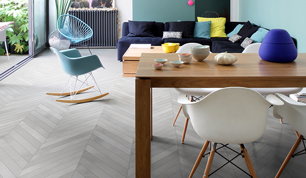 """<span style=""""font-size:12px""""><i><right>Material shown: Fumo - Chevron</right></i></span>"""